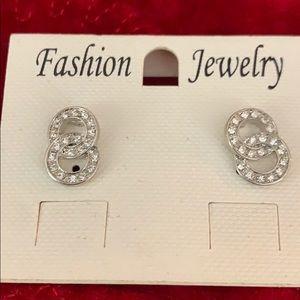 Rhinestone earrings post